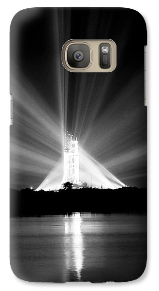 Galaxy Case featuring the photograph Apollo 11 In The Spotlight by Travis Burgess