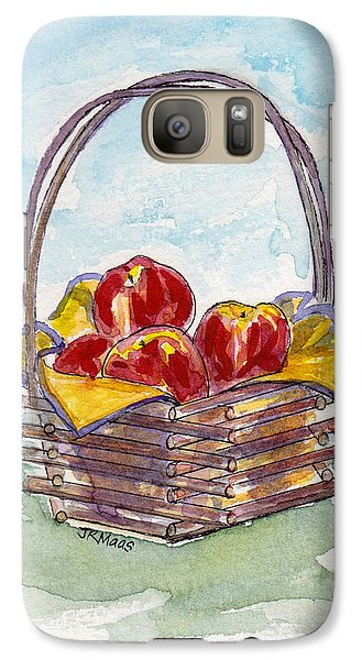 Galaxy Case featuring the painting Apple Basket by Julie Maas