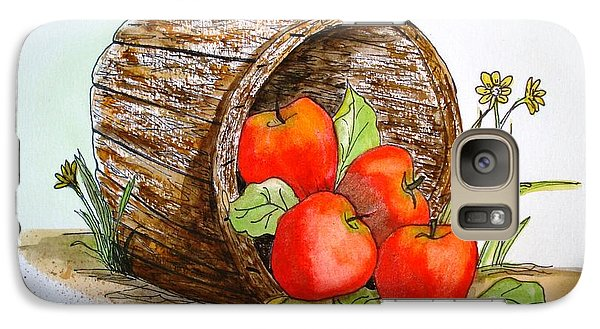 Galaxy Case featuring the painting Apple Basket by June Holwell