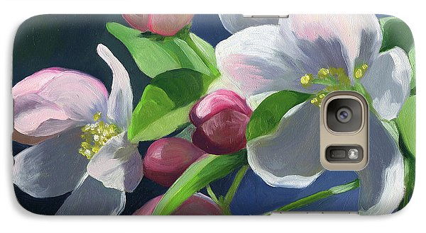 Galaxy Case featuring the painting Apple Blossom by Alecia Underhill