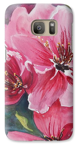 Galaxy Case featuring the painting Apple Blossoms 2 by Betty-Anne McDonald