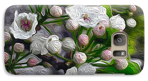 Galaxy Case featuring the photograph Apple Blossoms In Oil by Nina Silver