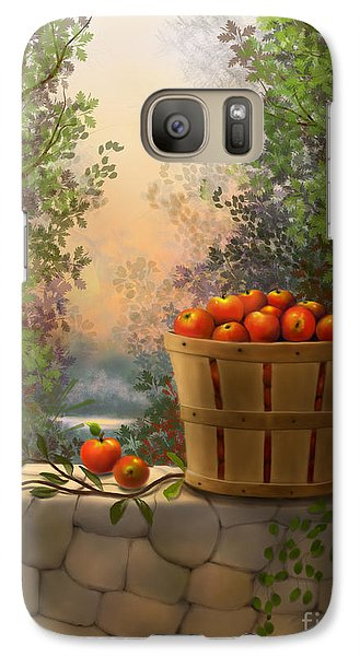 Galaxy Case featuring the painting Apple Harvest by Sena Wilson