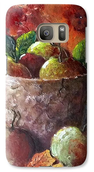 Galaxy Case featuring the painting Apple Picking Time by Megan Walsh