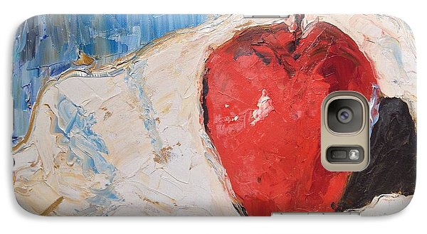 Galaxy Case featuring the painting Apple by Stan Tenney
