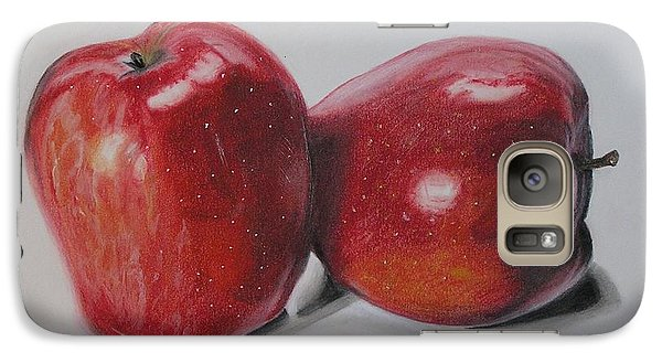Galaxy Case featuring the pastel Apple Study by Wil Golden