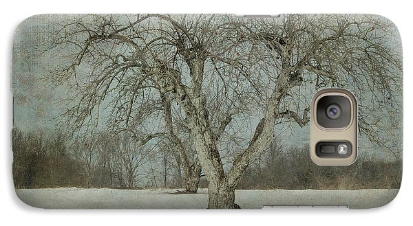 Galaxy Case featuring the photograph Apple Tree In Winter by Vicki DeVico
