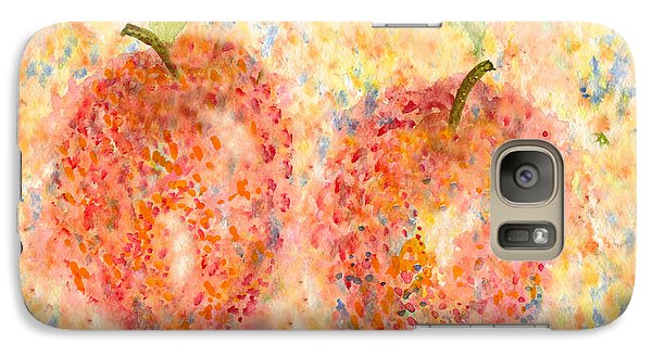Galaxy Case featuring the painting Apple Twins by Paula Ayers