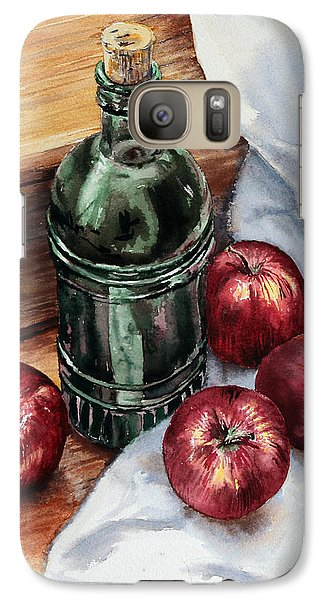 Galaxy Case featuring the painting Apples And A Bottle Of Liqueur by Joey Agbayani