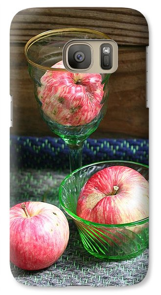 Galaxy Case featuring the photograph Apples And Green Glass-i by Patricia Overmoyer