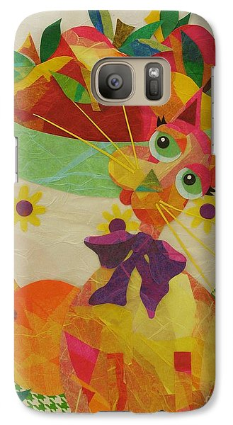 Galaxy Case featuring the mixed media Apples And Jackie by Diane Miller