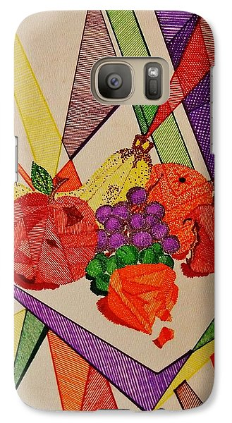 Galaxy Case featuring the drawing Apples And Oranges by Celeste Manning