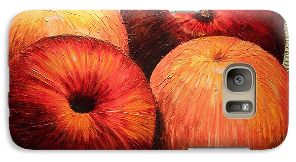Galaxy Case featuring the painting Apples And Oranges by Joey Agbayani