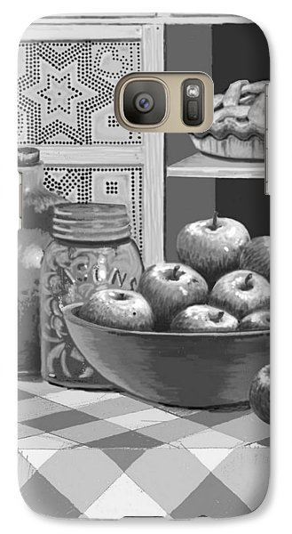 Galaxy Case featuring the digital art Apples Four Ways by Carol Jacobs
