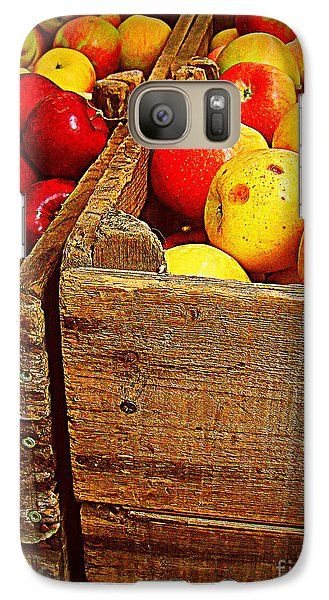 Galaxy Case featuring the photograph Apples In Old Bin by Miriam Danar