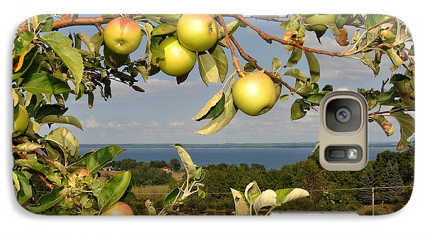 Galaxy Case featuring the photograph Apples Over Grand Traverse Bay by Diane Lent