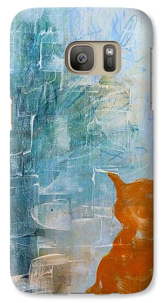 Galaxy Case featuring the painting Appleskin Cat by Susan Fisher