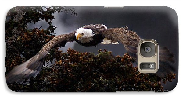 Galaxy Case featuring the photograph Approaching Eagle-signed- by J L Woody Wooden