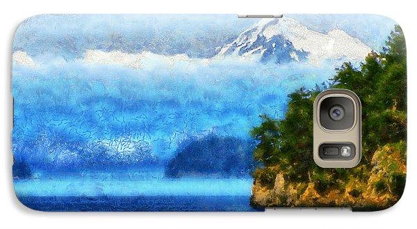 Galaxy Case featuring the digital art Approaching San Juan Island Washington by Kaylee Mason