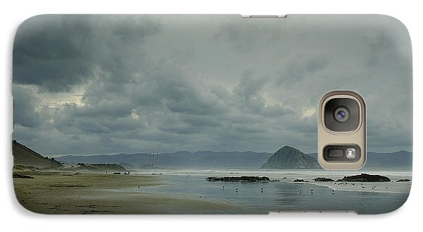 Galaxy Case featuring the photograph Approaching Storm - Morro Rock by Terry Garvin