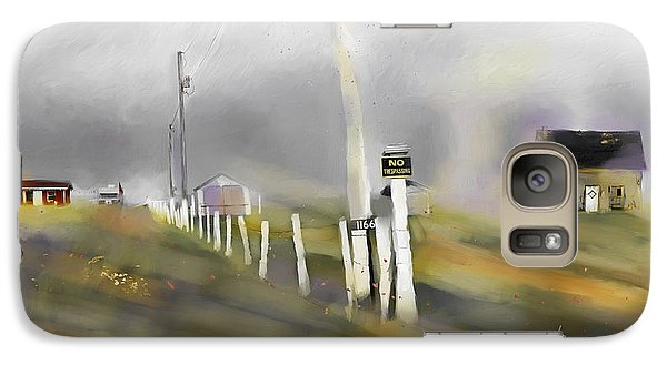 Galaxy Case featuring the painting Approaching Storm Northwest Cape P.e.i by Bob Salo