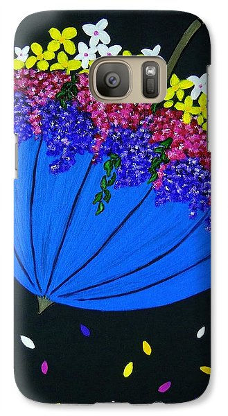 Galaxy Case featuring the painting April Showers... by Celeste Manning