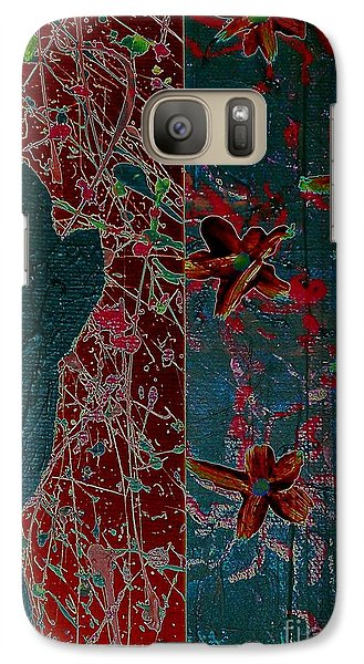 Galaxy Case featuring the painting April Showers/ May Flowers by Jacqueline McReynolds