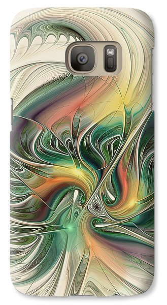 Galaxy Case featuring the digital art April's Temper by Kim Redd