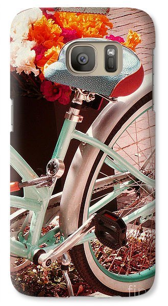 Galaxy Case featuring the digital art Aqua Bicycle by Valerie Reeves