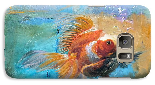 Goldfish Galaxy S7 Case - Aqua Gold by Catf