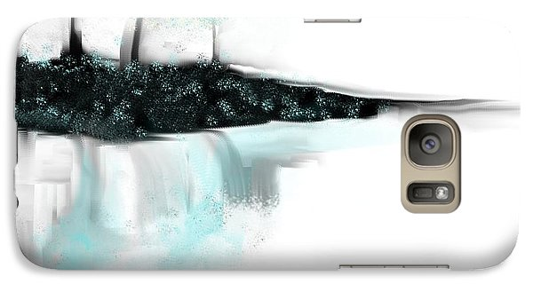 Galaxy Case featuring the painting Aqua Landscape by Jessica Wright