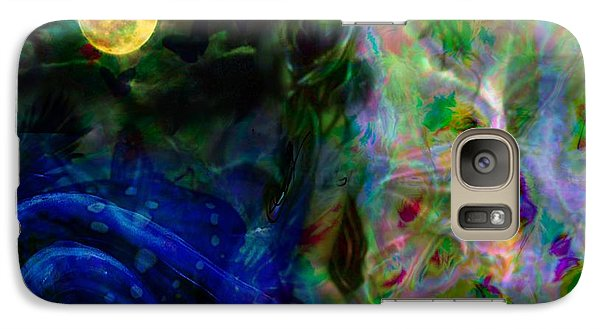 Galaxy Case featuring the digital art Aqua Lover by Diana Riukas
