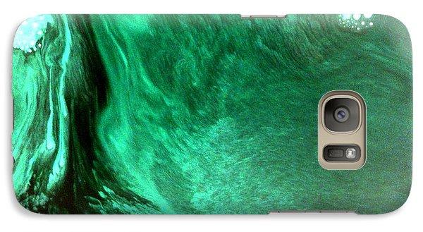 Galaxy Case featuring the mixed media Aqua Tree by Salman Ravish