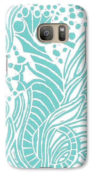 Aqua Seahorse Galaxy S7 Case by Stephanie Troxell