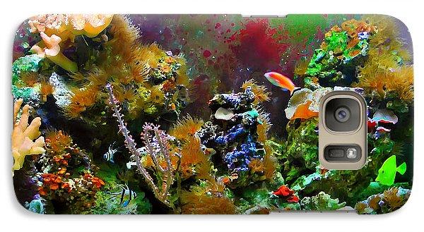 Galaxy Case featuring the digital art Aquarium by Kara  Stewart