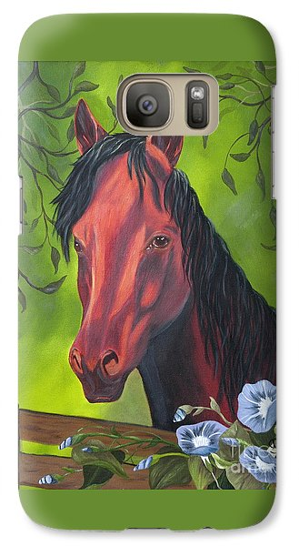 Galaxy Case featuring the painting Arabian Horse by Terri Mills