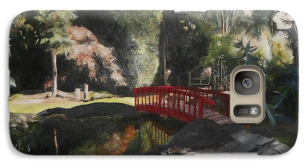 Galaxy Case featuring the painting Arbour Bridge by Cherise Foster