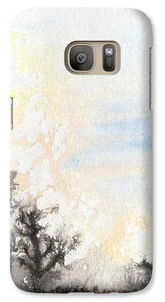 Galaxy S7 Case featuring the painting Arbres En Feu by Marc Philippe Joly