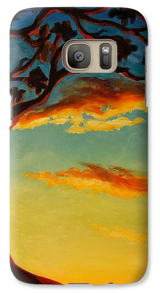Galaxy Case featuring the painting Arbutus Sunrise by Janet McDonald