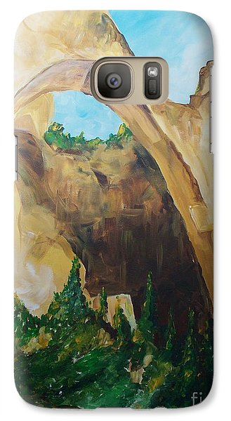 Galaxy Case featuring the painting Arch by Eric  Schiabor