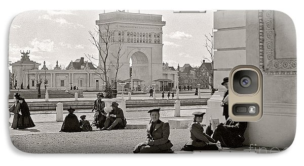 Galaxy Case featuring the photograph Arch Of States Trans Mississippi 1898 by Martin Konopacki Restoration