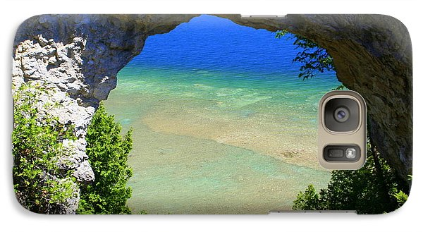 Galaxy Case featuring the photograph Arch Rock by Debra Kaye McKrill