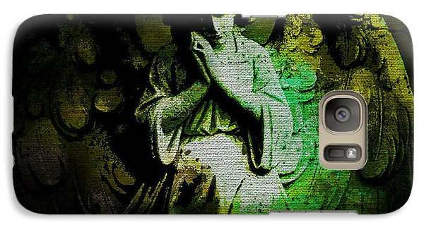 Galaxy Case featuring the digital art Archangel Uriel by Absinthe Art By Michelle LeAnn Scott