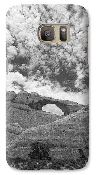 Galaxy Case featuring the photograph Arches Black And White by Tom Kelly