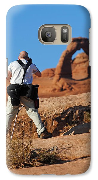 Galaxy Case featuring the photograph Arches Np 27 by Jeff Brunton