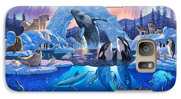 Arctic Harmony Galaxy Case by Chris Heitt