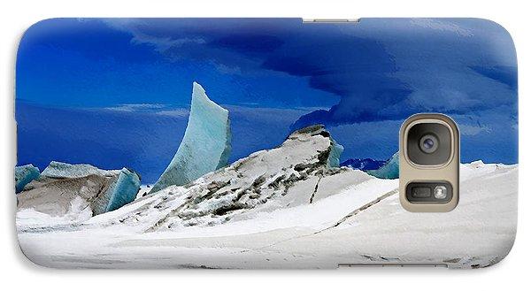 Galaxy Case featuring the digital art Arctic Pressure Ridge by David Blank