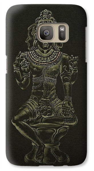 Galaxy Case featuring the drawing Ardhanarishvara I by Michele Myers