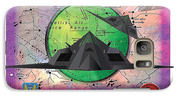 Galaxy Case featuring the drawing Area 51 by Kenneth De Tore
