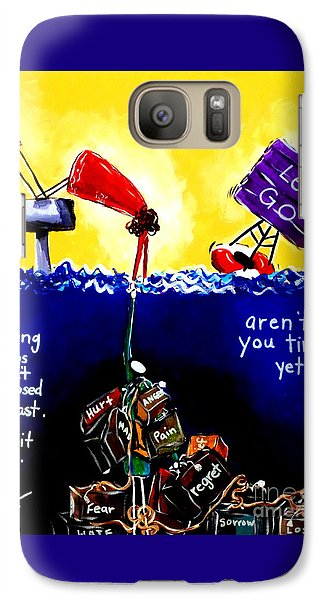 Galaxy Case featuring the painting Aren't You Tired Yet? by Jackie Carpenter